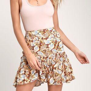 NEW Free People Nadia Wrap Mini Skirt